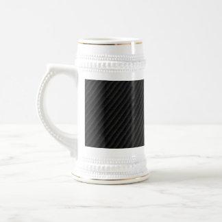 Fibra de carbono acentuada jarra de cerveza