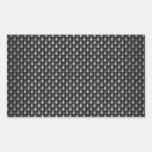Fibra de carbono altamente realista texturizada rectangular altavoz