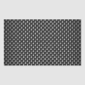 Fibra de carbono altamente realista texturizada pegatina rectangular