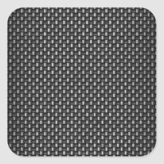 Fibra de carbono altamente realista texturizada pegatina cuadrada