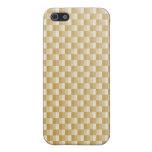 Fibra de carbono amarilla de oro modelada iPhone 5 carcasas