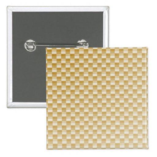 Fibra de carbono amarilla de oro modelada pin cuadrada 5 cm