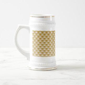 Fibra de carbono amarilla de oro modelada jarra de cerveza