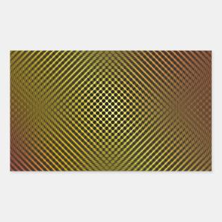 fibra de carbono amarilla vo.1 rectangular pegatina
