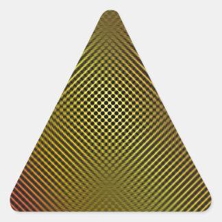 fibra de carbono amarilla vo.1 calcomanía de trianguladas