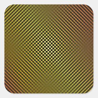 fibra de carbono amarilla vo.1 calcomanías cuadradass