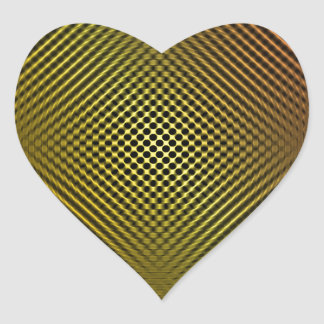fibra de carbono amarilla vo.1 pegatina de corazon personalizadas