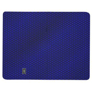 Fibra de carbono azul cuaderno grapado