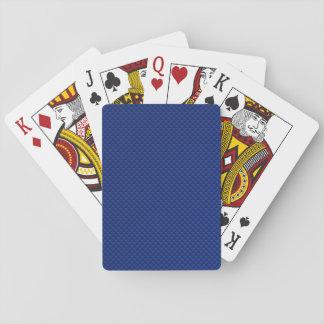 Fibra de carbono azul del acento como fondo de la baraja de póquer