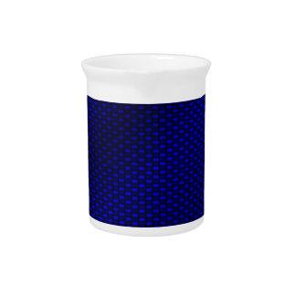 Fibra de carbono azul jarra de beber