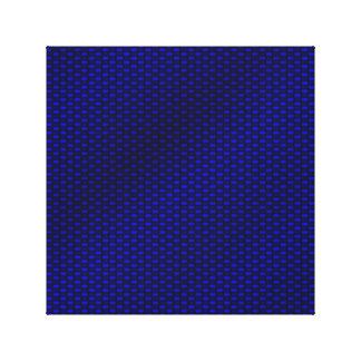 Fibra de carbono azul lona envuelta para galerías