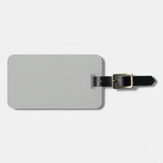Fibra de carbono blanca y gris de Kevlar Etiquetas De Equipaje