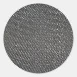 Fibra de carbono CRUDA real texturizada Etiqueta Redonda