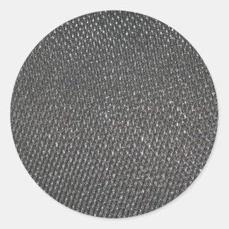 Fibra de carbono CRUDA real texturizada Pegatina Redonda