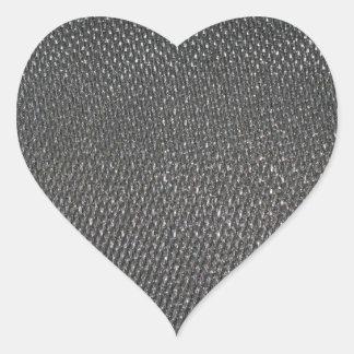 Fibra de carbono CRUDA real texturizada Pegatina En Forma De Corazón