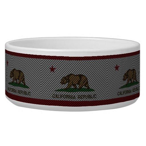 Fibra de carbono de California Tazon Para Perro
