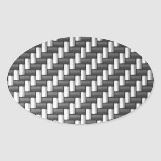 Fibra de carbono de Carbonfiber falsa Calcomanías De Óvales Personalizadas