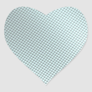 Fibra de carbono de color claro texturizada pegatina en forma de corazón