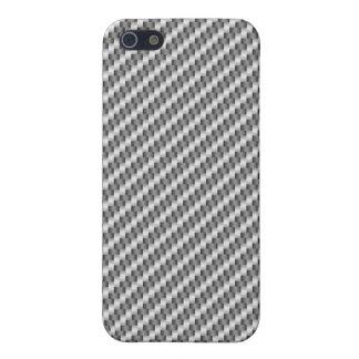 Fibra de carbono de plata iPhone 5 carcasas