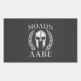 Fibra de carbono espartano de la armadura del pegatina rectangular