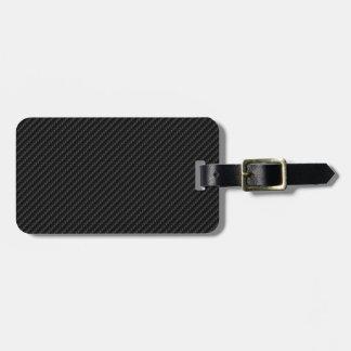Fibra de carbono etiqueta para maleta