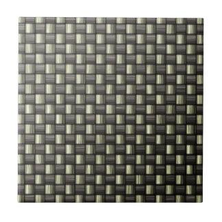 Fibra de carbono (falsa) azulejo cuadrado pequeño