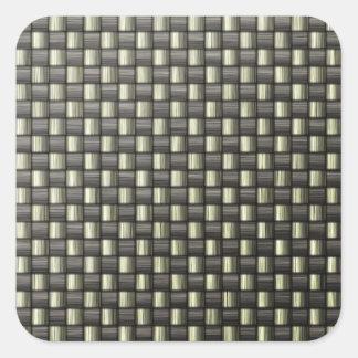 Fibra de carbono (falsa) calcomanías cuadradases