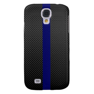 Fibra de carbono fina del personalizado de Blue Li Funda Para Galaxy S4
