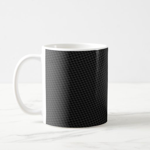 Fibra de carbono firmemente tejida del negro taza