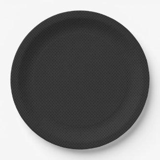 Fibra de carbono micro negra de Kevlar del Plato De Papel De 9 Pulgadas