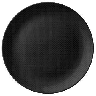 Fibra de carbono micro negra de Kevlar del Platos De Cerámica