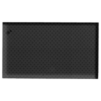 Fibra de carbono micro negra de Kevlar del Soportes Para Tarjetas De Mesa