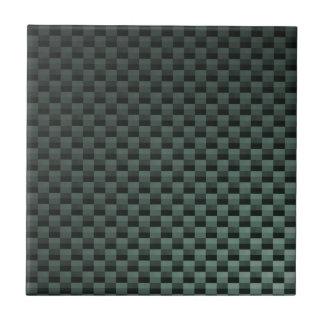 Fibra de carbono modelada azulejo cuadrado pequeño