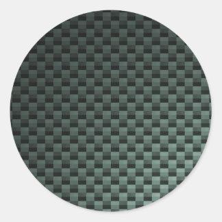 Fibra de carbono modelada etiqueta