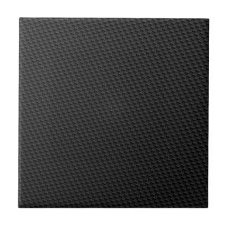 Fibra de carbono negra azulejo cuadrado pequeño
