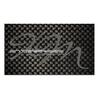 Fibra de carbono negra texturizada plantilla de tarjeta de visita