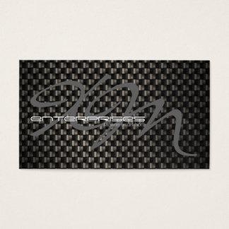 Fibra de carbono negra texturizada tarjeta de negocios