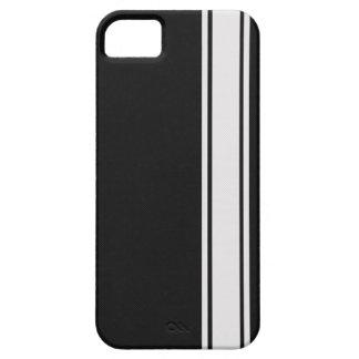 Fibra de carbono negra y caja blanca del iPhone 5 iPhone 5 Cobertura