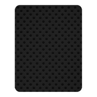 Fibra de carbono perforada negra de Kevlar del Invitación 10,8 X 13,9 Cm