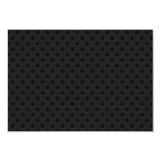 Fibra de carbono perforada negra de Kevlar del Invitación 8,9 X 12,7 Cm