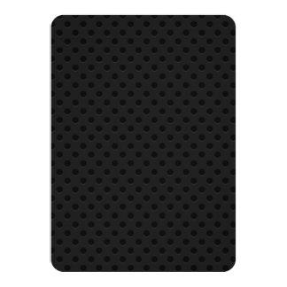 Fibra de carbono perforada negra de Kevlar del Invitación 11,4 X 15,8 Cm