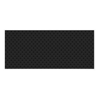 Fibra de carbono perforada negra de Kevlar del Invitación 10,1 X 23,5 Cm