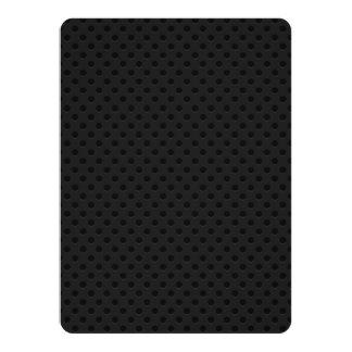 Fibra de carbono perforada negra de Kevlar del Invitación 13,9 X 19,0 Cm