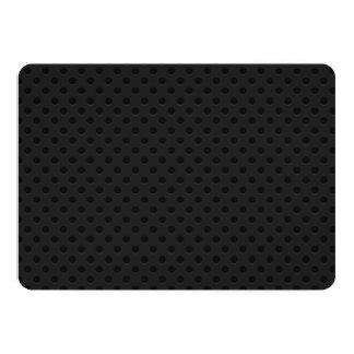 Fibra de carbono perforada negra de Kevlar del Invitación 12,7 X 17,8 Cm