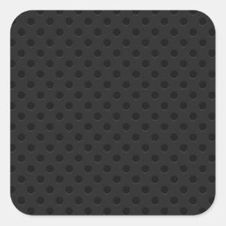 Fibra de carbono perforada negra de Kevlar del Pegatina Cuadrada