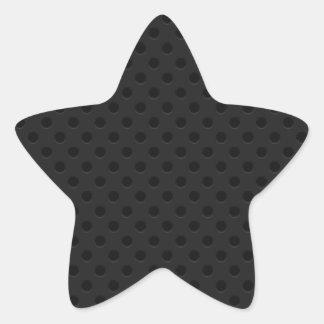 Fibra de carbono perforada negra de Kevlar del Pegatina En Forma De Estrella