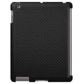 Fibra de carbono perforada negra de Kevlar