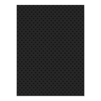 Fibra de carbono perforada negra de Kevlar Invitación 16,5 X 22,2 Cm