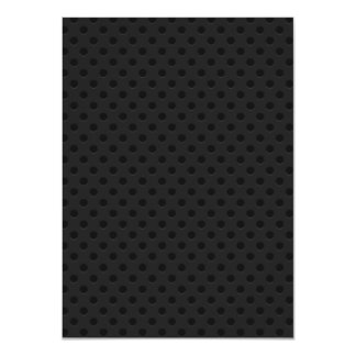 Fibra de carbono perforada negra de Kevlar Invitación 11,4 X 15,8 Cm