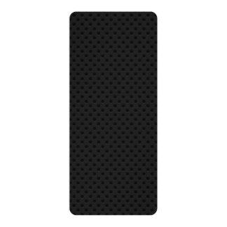 Fibra de carbono perforada negra de Kevlar Invitación 10,1 X 23,5 Cm